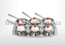 Stainless Steel Ice Cream Cup Set (SVM - 202370)