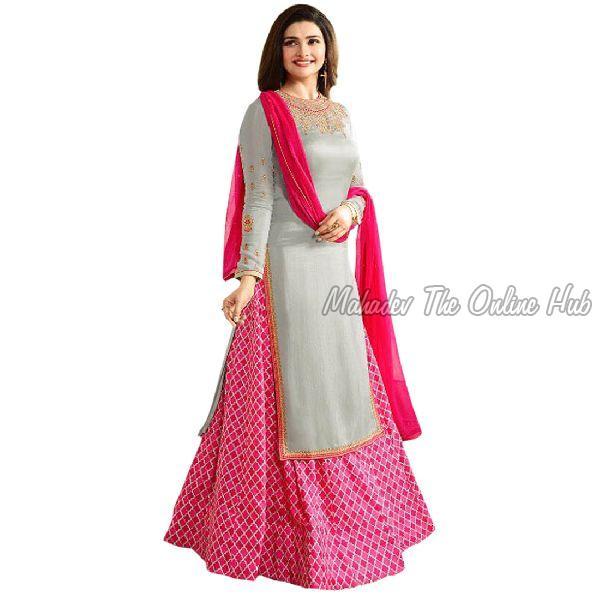 Anarkali Salwar Suits F1172 Grey