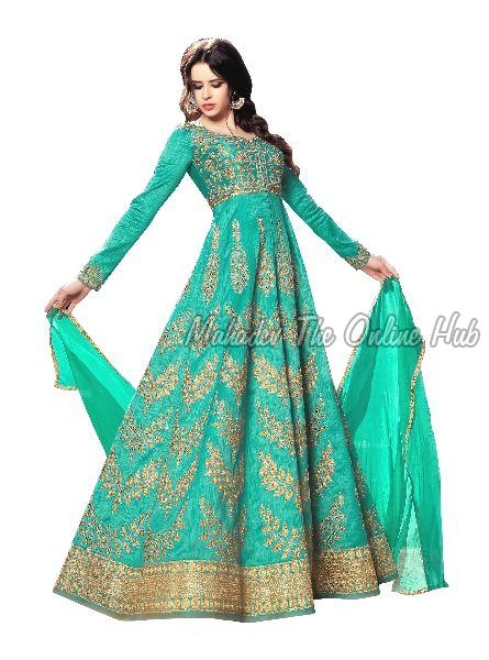 Anarkali Salwar Suits F1116 Green