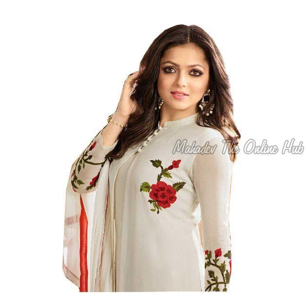 Anarkali Salwar Suits F1140Creem