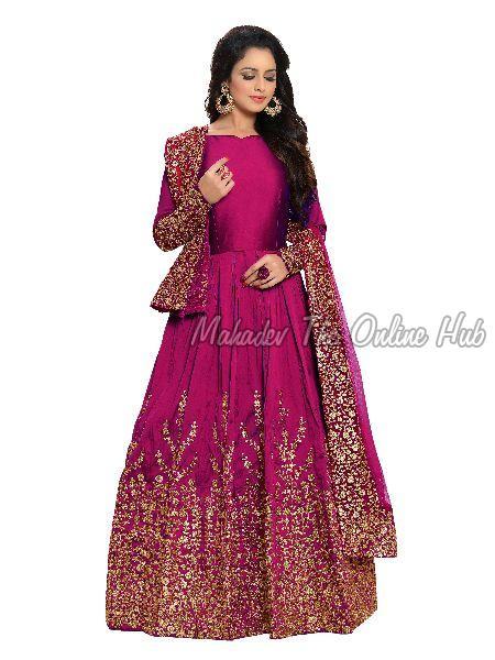 Anarkali Salwar Suits F1129 Pink