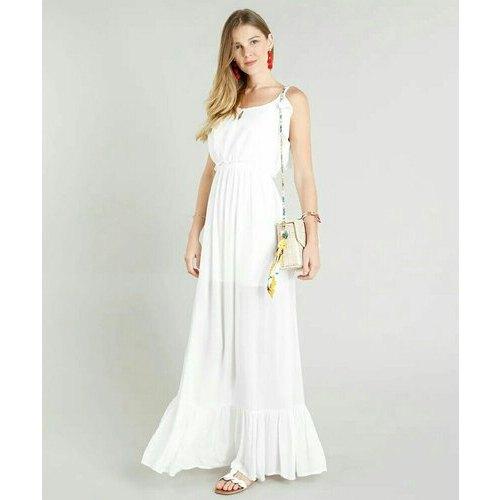 Georgette Western Snow White Gown