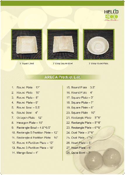 Ecofriendly Areca Leaf Product