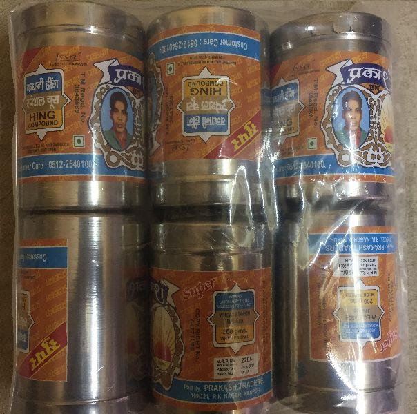 200gm Prakash Bandhani Hing Steel Pack