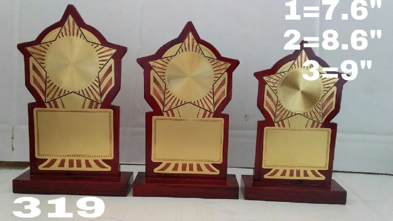 Wooden Shield Trophy