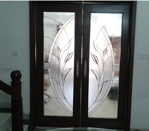 Decorative Stained Glass Door