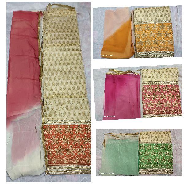 Unstitched Chanderi Suits