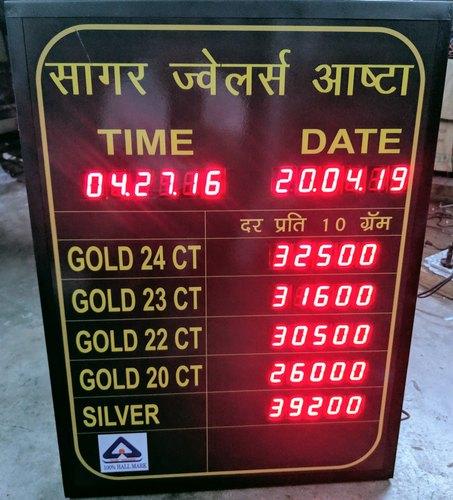 Jewellery Rate LED Display Board
