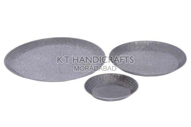 11 5 Inch Galvanized Metal Serving Plate By K T Handicrafts Galvanized Metal Serving Plate Id 5596615