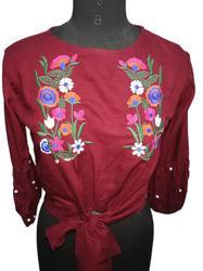 Ladies Fancy Embroidered Top