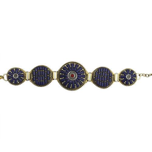Handmade Brass Stone Work Bracelet