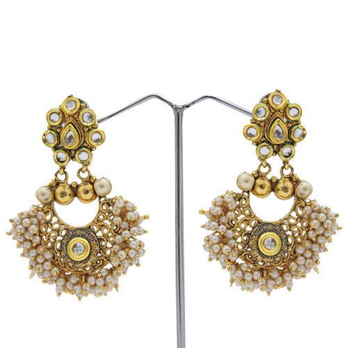 Golden Party Wear Earrings