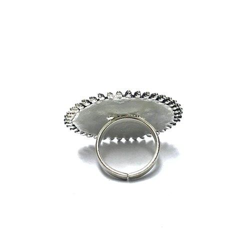 Handmade Enamel Silver Oxidised Earrings