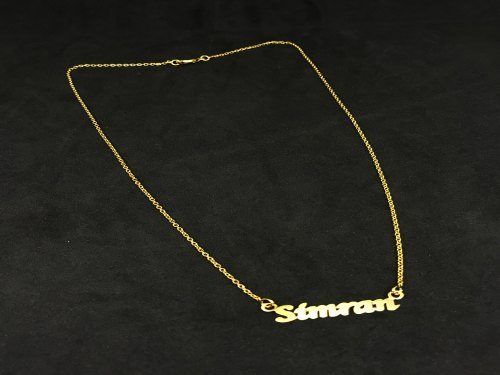 Customized Name Handcut Gold Plated Necklace