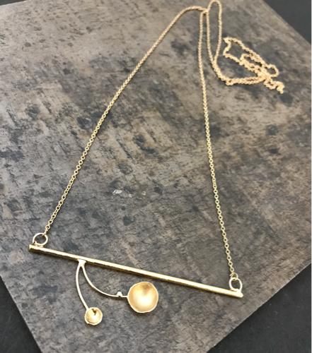 Designer Brass Necklace