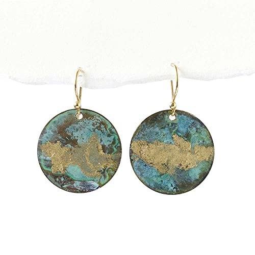 Handmade Natural Patina Earrings