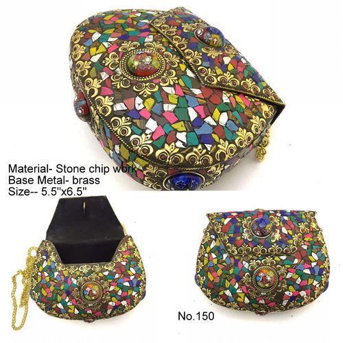 Mosaic Multicolor Metal Handbag