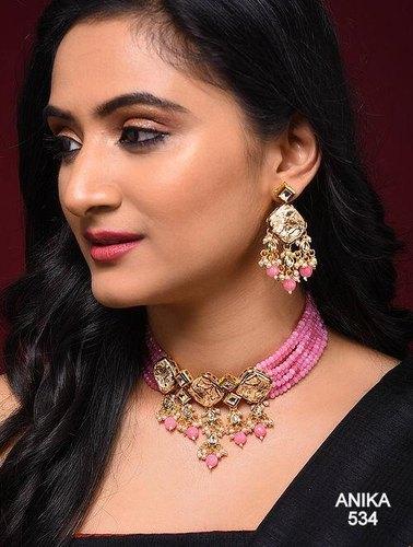 Nien High Quality Kundan Necklace Set