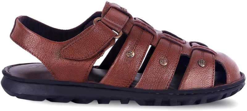 Mens Tan Leather Sandals