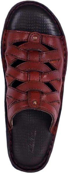 Mens Designer Leather Slippers