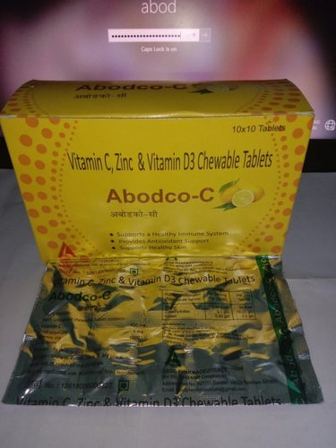Vitamic C, Zinc and Vitamin D3 Chewable Tablets