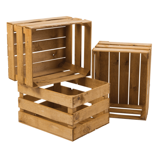 Heat Treated Wooden Crates