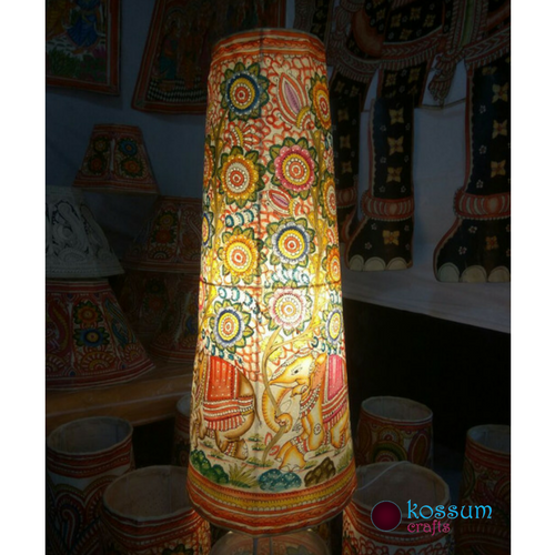 Leather Hand Painted Lamp Shades