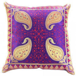 Cotton Paisley Printed Cushion Cover