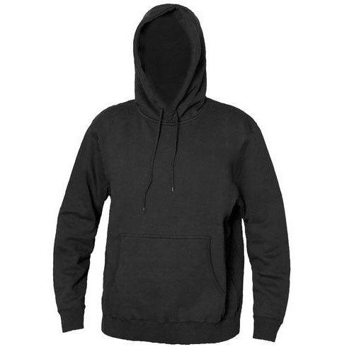 Men Plain Hooded Sweatshirt