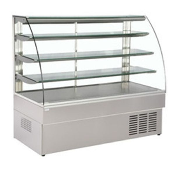 Stainless Steel Curved Display Counter