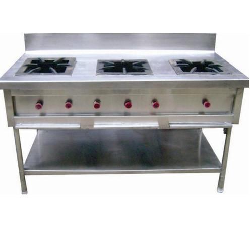 Stainless Steel Triple Burner Cooking Range
