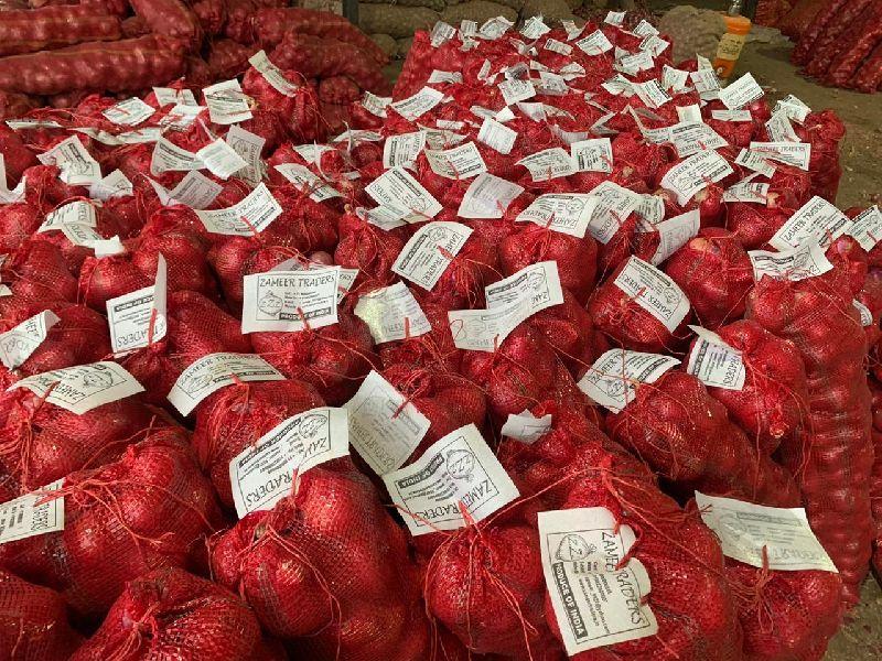 Godown Mesh Packed Onion