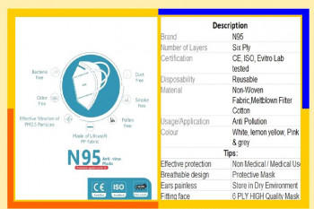N-95 MASK AND 3-PLY DISPOSABLE MASK