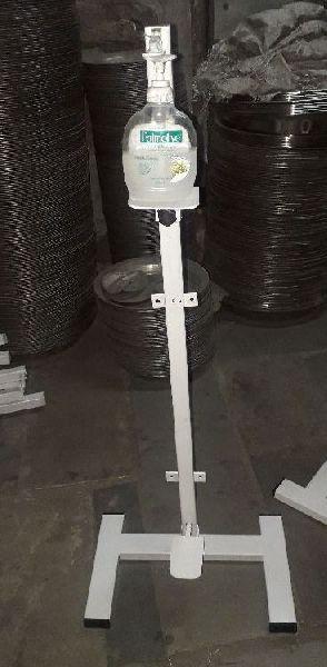 Mild Steel Hand Sanitizer Dispenser Stand
