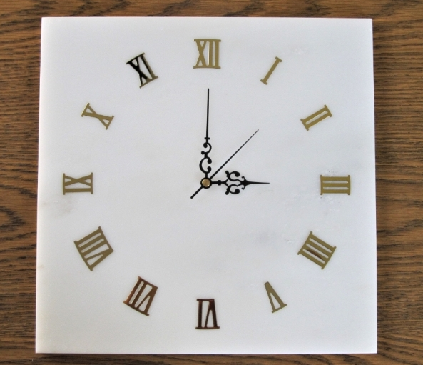 Modern Marble Wall Clock