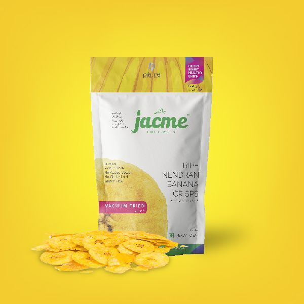 Jacme Vacuum Fried Kerala Ripe Banana Chips   100gms