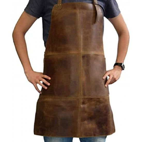 Waxed Canvas Work Leather Apron