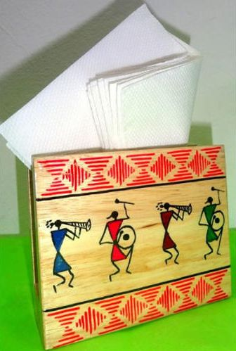 Wooden Tissue Paper Stand