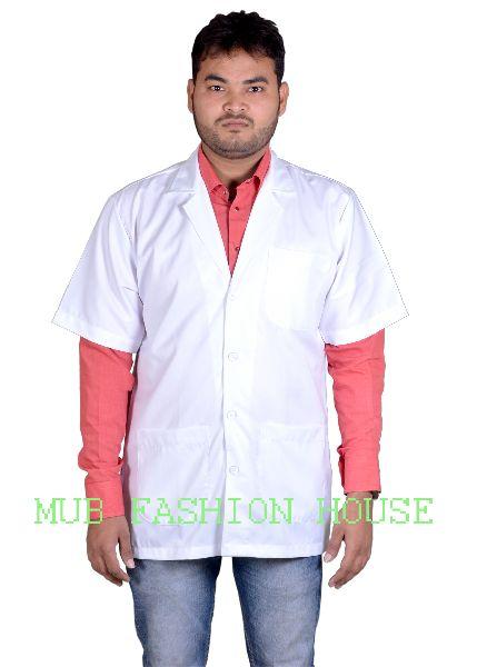 Mens Half Sleeves Doctor Lab Coat Apron