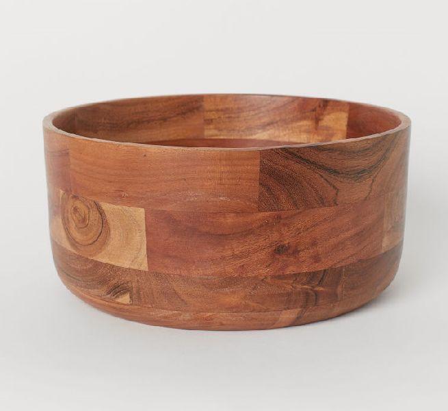 Wooden Round Bowl (KIK19-041239)