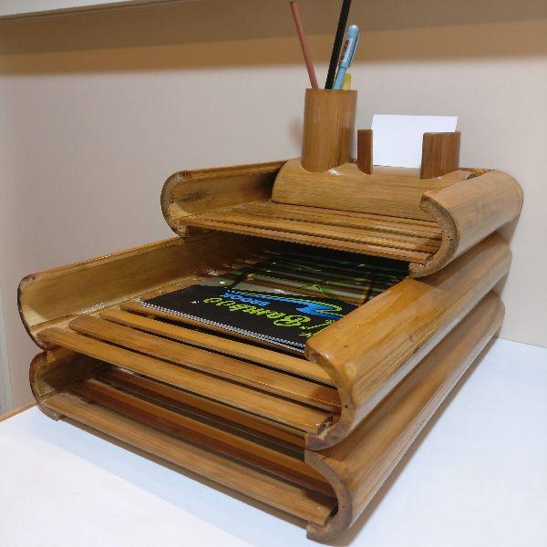 Bamboo Compact Book Shelf