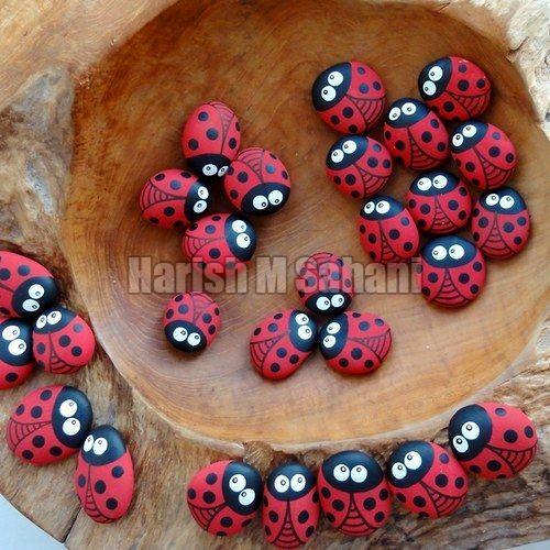 Painted Natural Pebbles