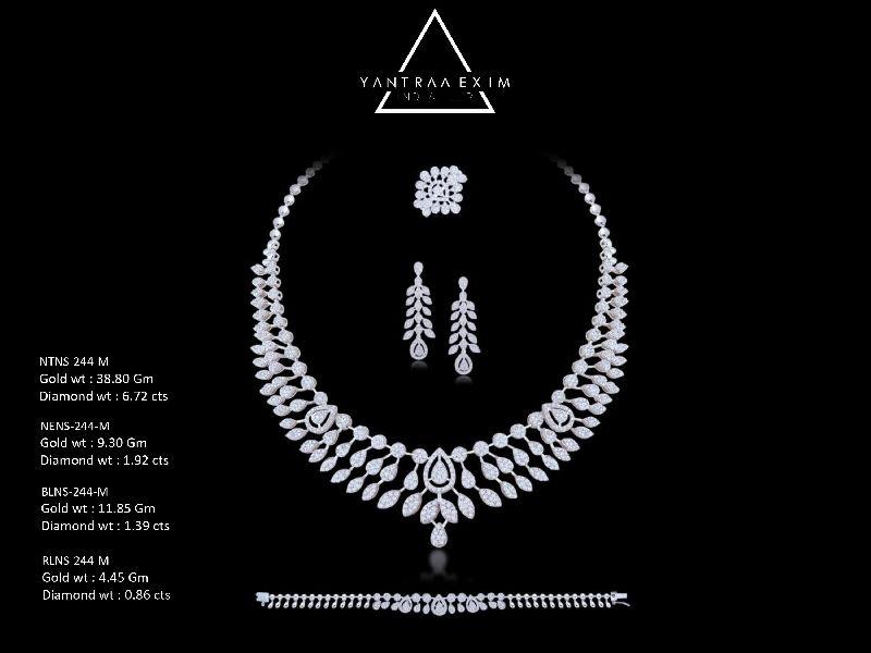 Illusion Setting Diamond Necklace Set