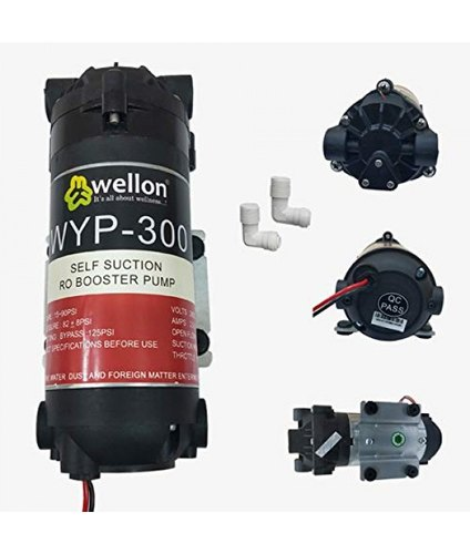 Wellon RO Booster Pump 300 GPD with Connectors for Any Water Purifier