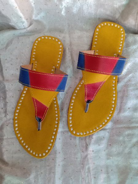 MOJEES : LILY - Hand-made Multi-Color Chappal