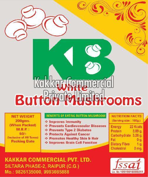 KB WHITE BUTTON MUSHROOMS( GREEN PLASTIC PANNET ) (07095101)