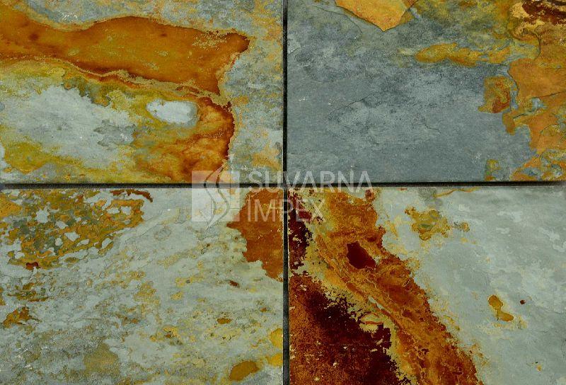 Rustic Green Slate Stone Tiles