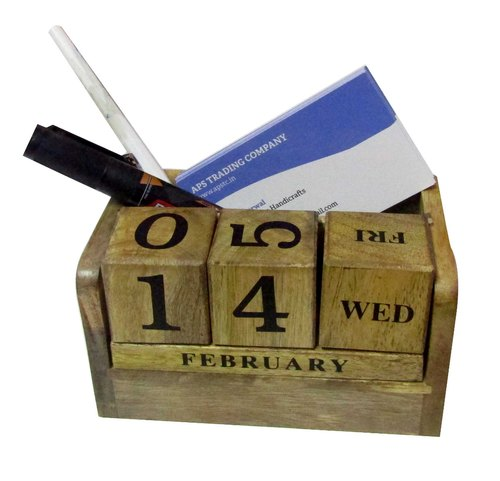 Wooden Table Calendar with Card Holder (APSTC-154)