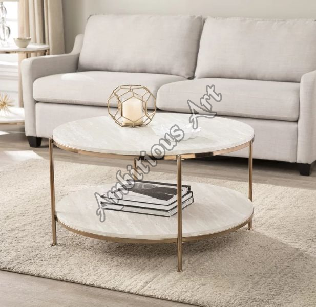 Brass End Table (ABA 6759)