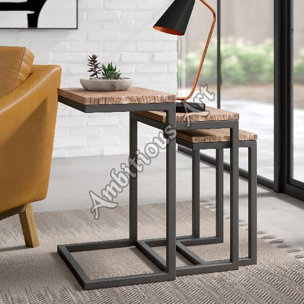 Brass End Table